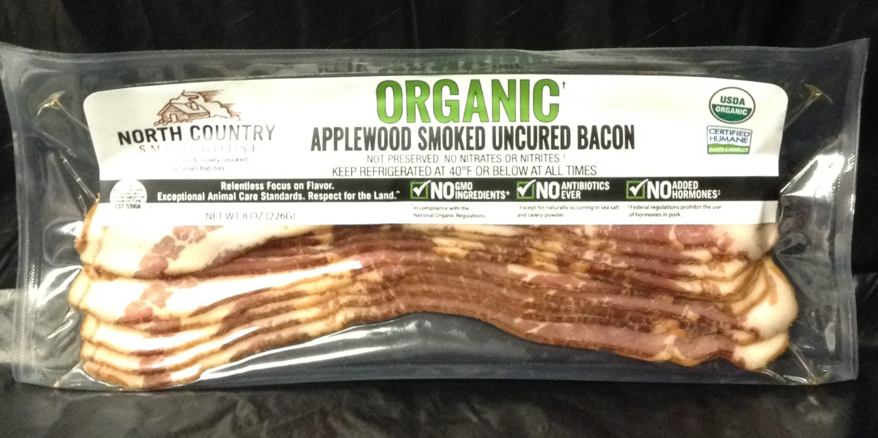 North Country Smokehouse ORGANIC Bacon - 8 oz package