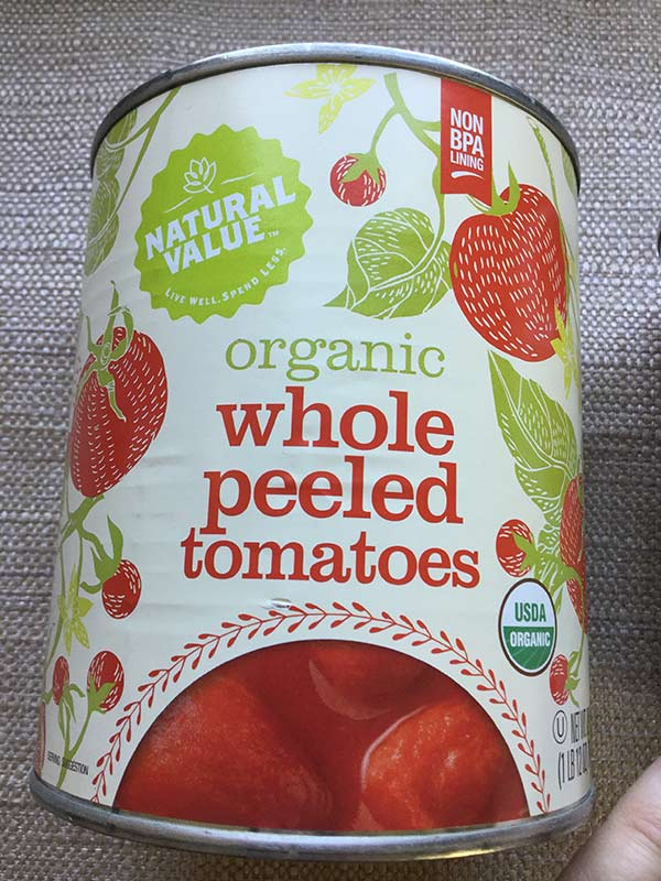 Natural Value - Whole Peeled Tomatoes 28oz