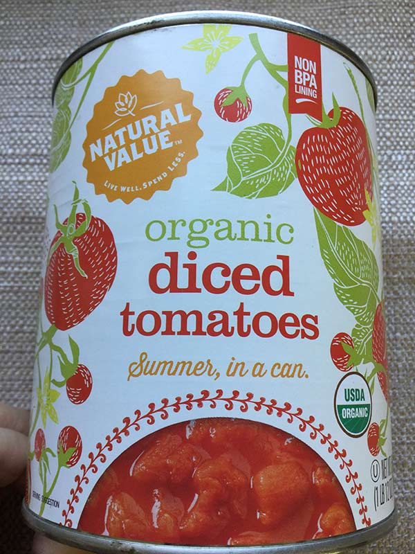 Natural Value - Diced tomatoes 28oz