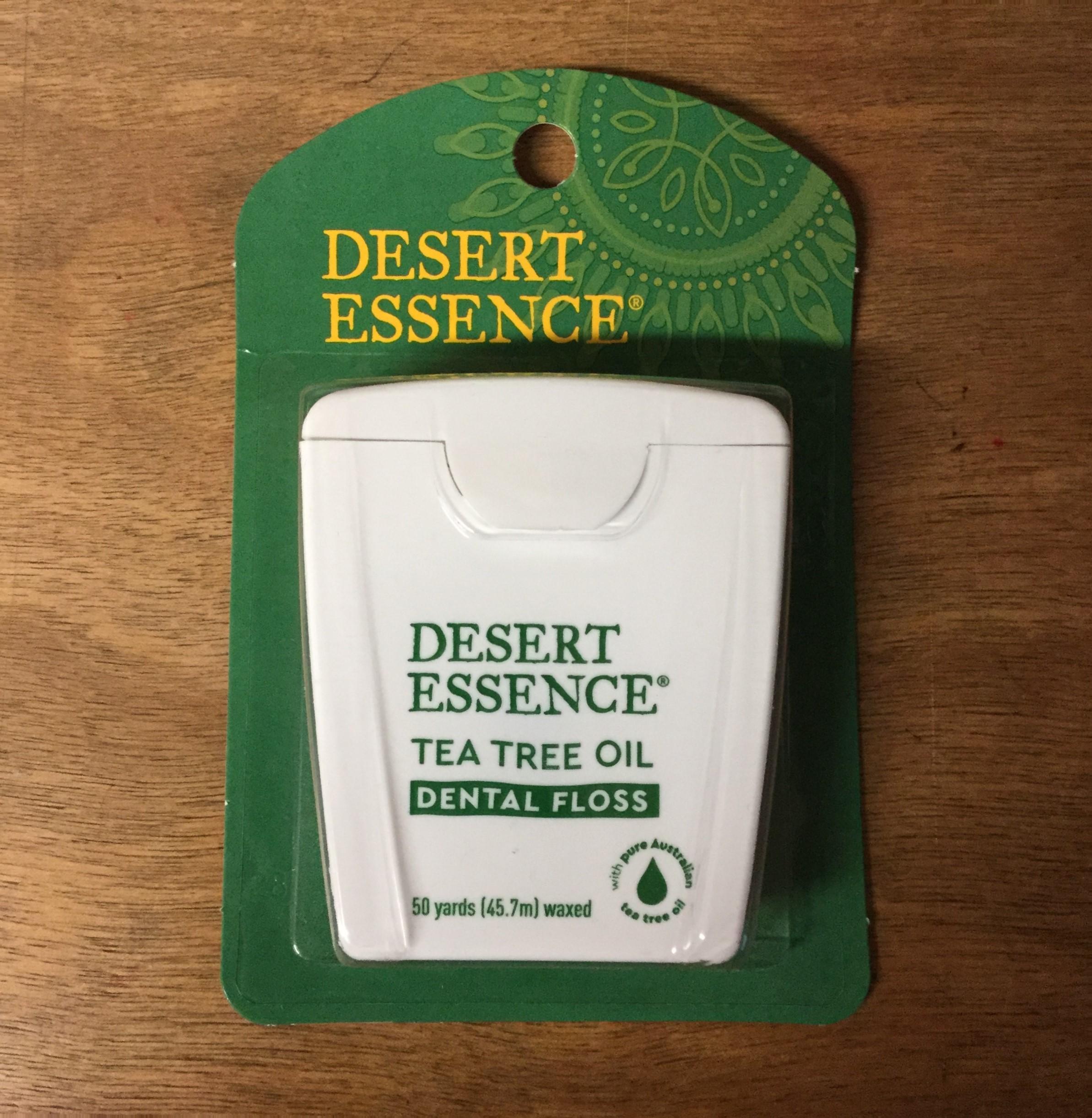 Desert Essence Dental Floss, Waxed Tea Tree Oil