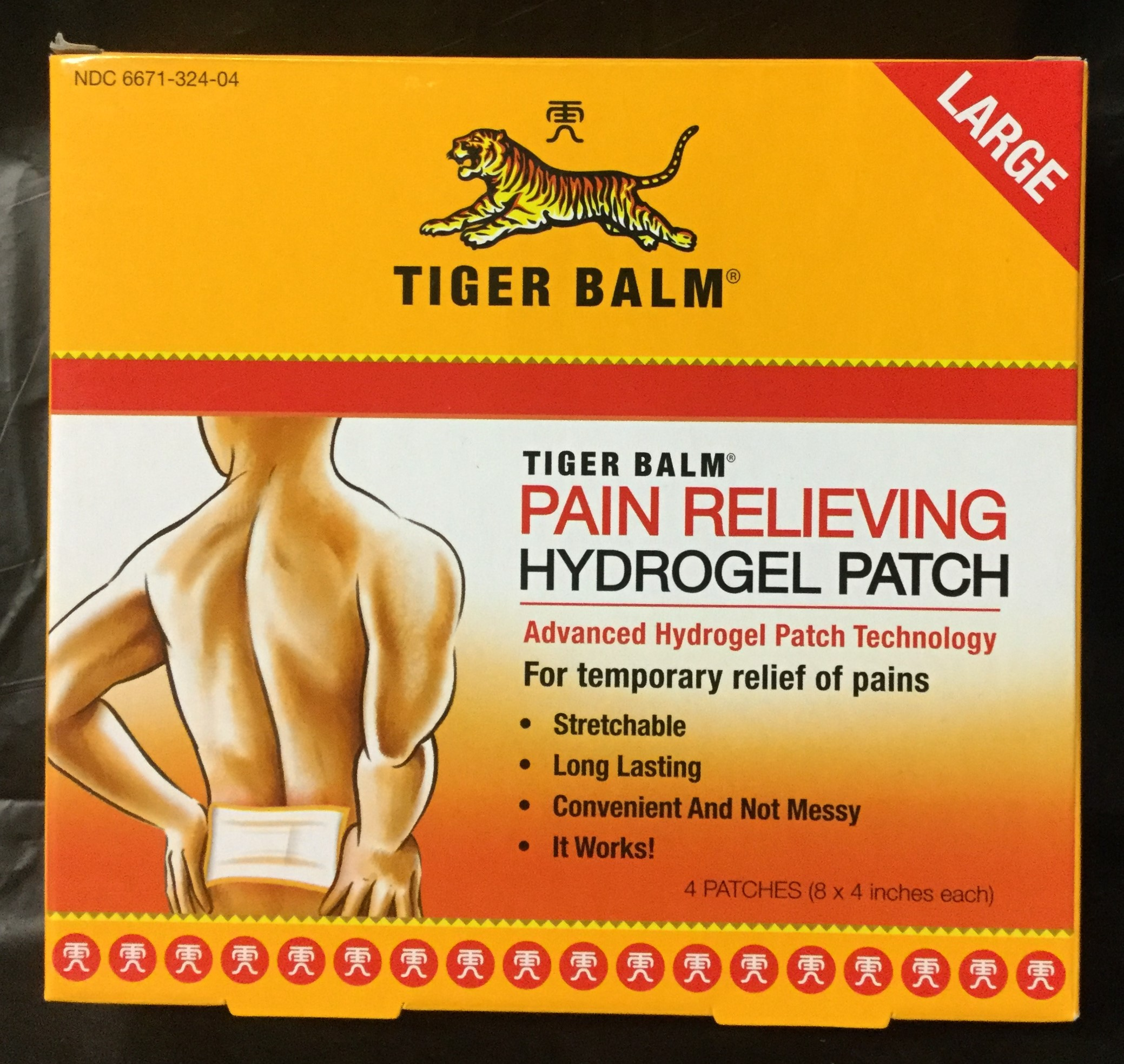 Pain Relieving Hydrogel Patch by Tiger Balm- 4 pack
