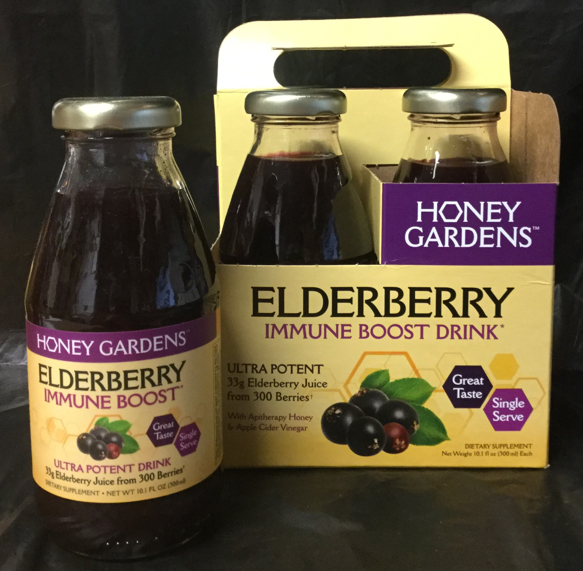 Elderberry Immune Boost Drink by Honey Gardens