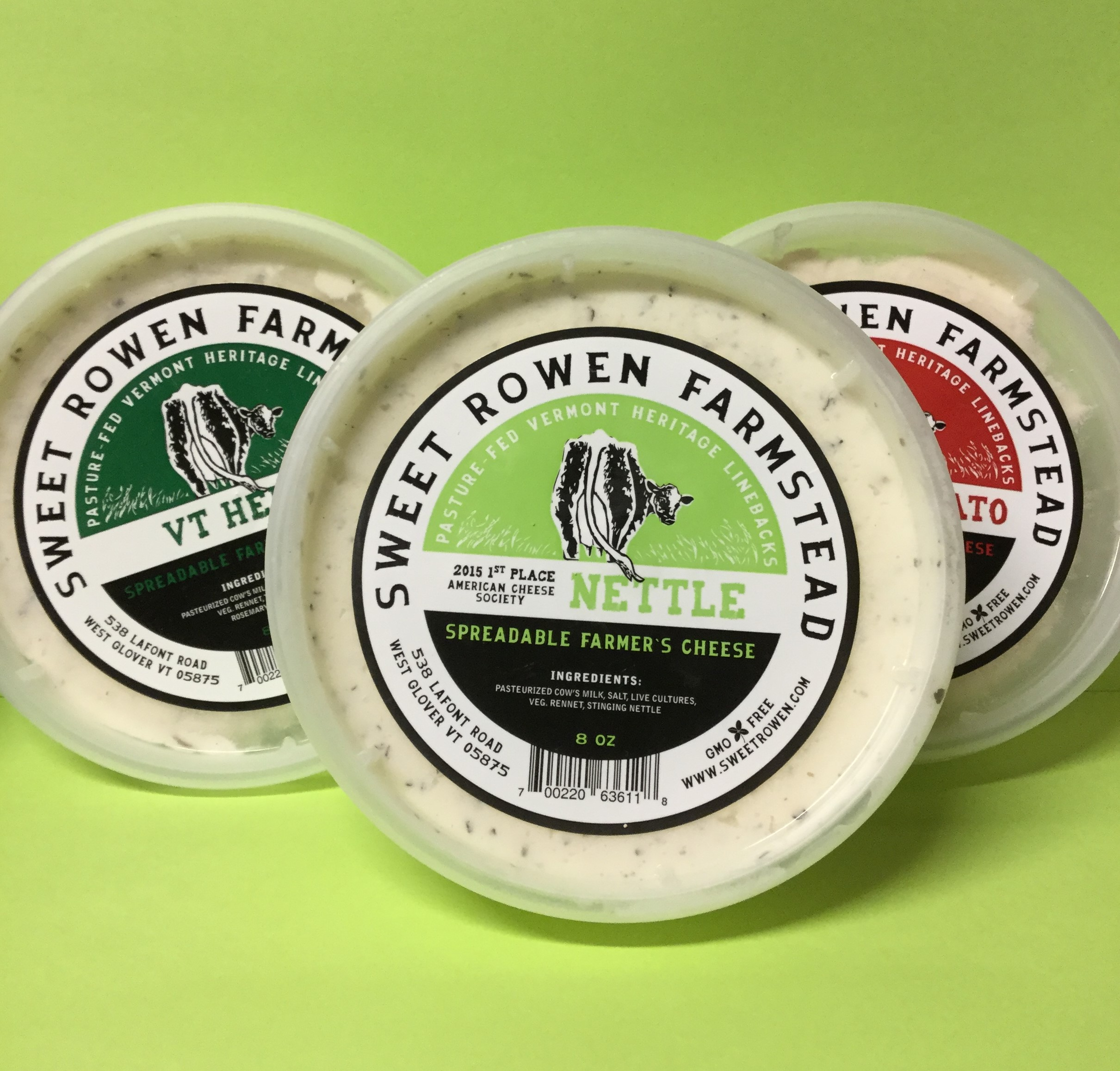 SWEET ROWEN FARMSTEAD Spreadable Farmer's Cheese