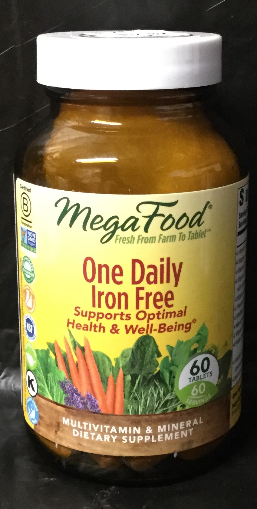 MEGA FOOD One Daily Iron-free Multivitamin