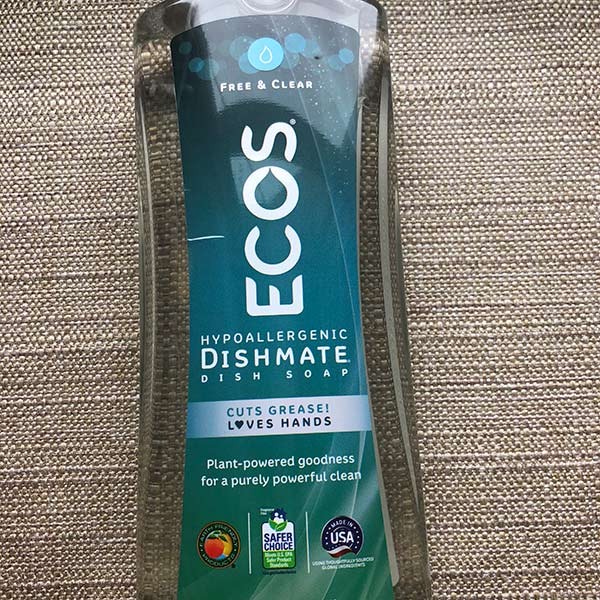 Ecos - Free and Clear Dish Soap 25oz