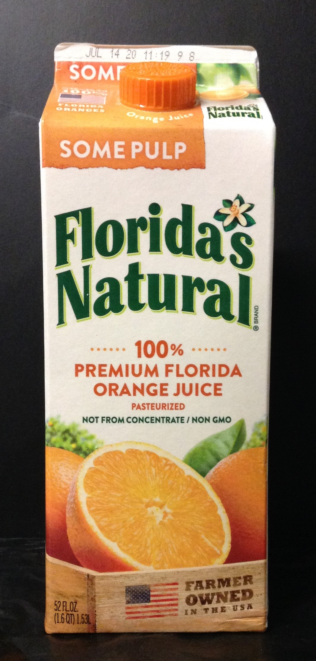 FLORIDA's NATURAL 100% Florida OJ -  Some Pulp