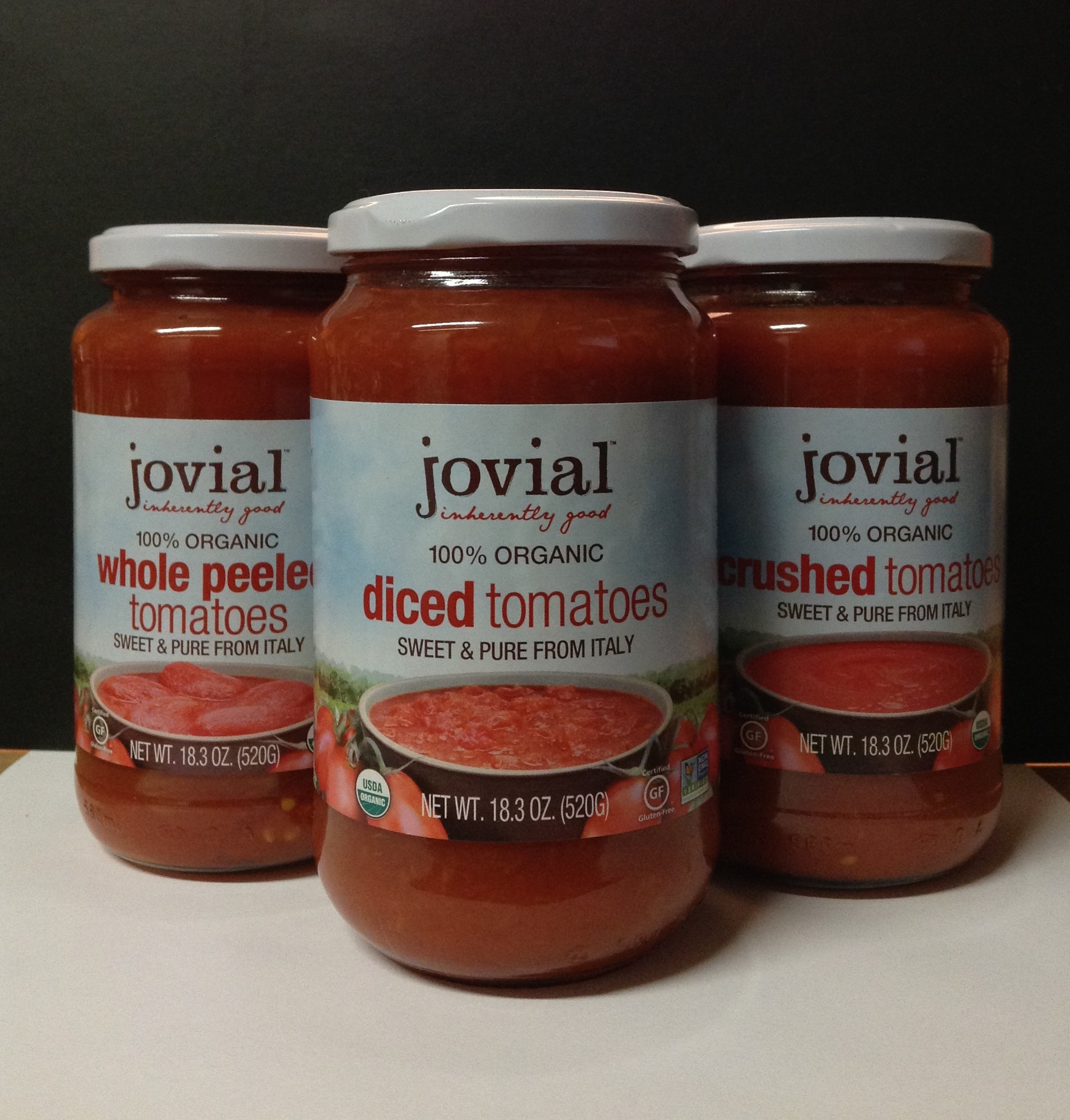 JOVIAL 100% Organic Tomato Products!