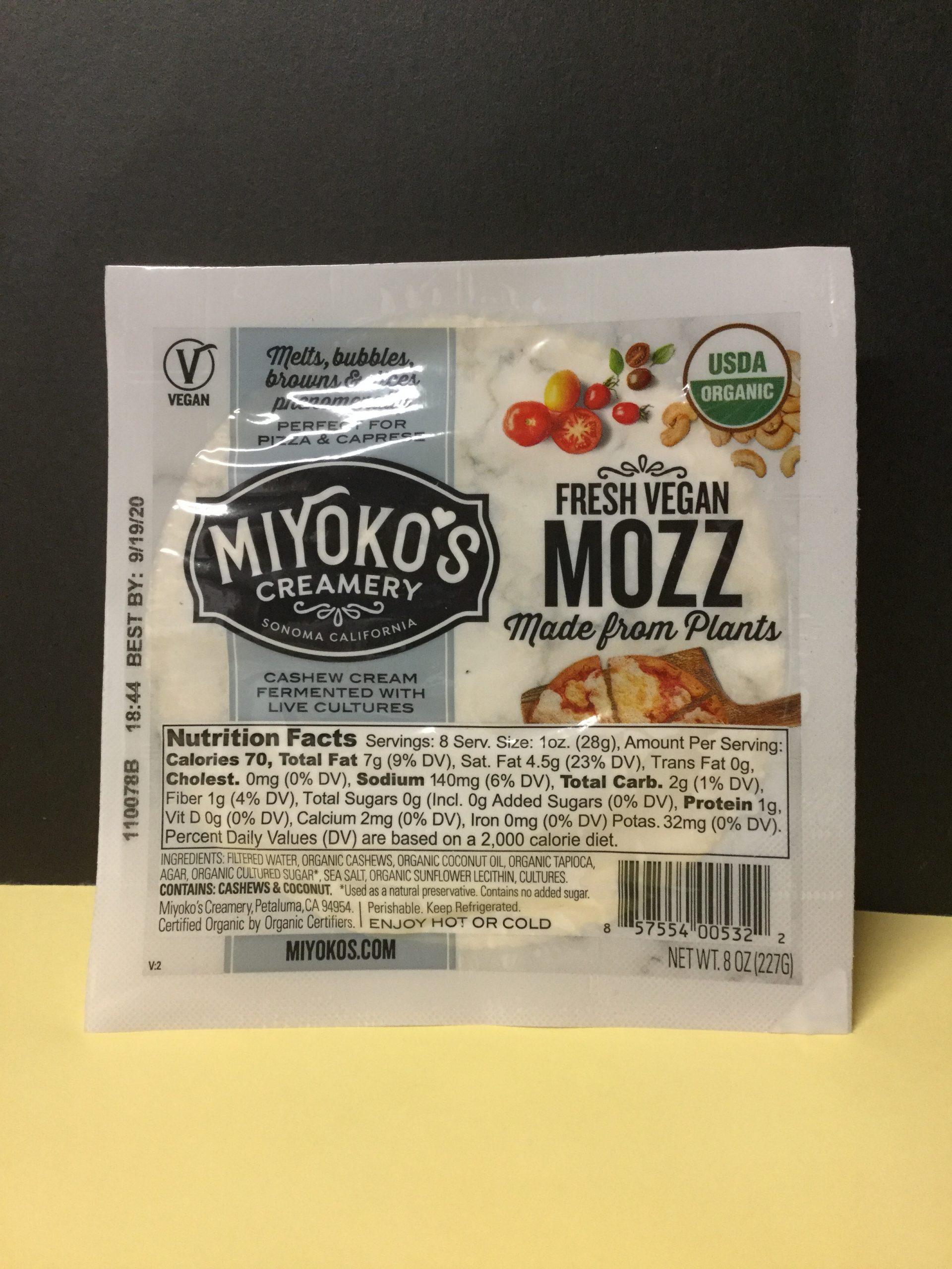 MIYOKO's Fresh Vegan Mozzarella-style Plant-based Cheese