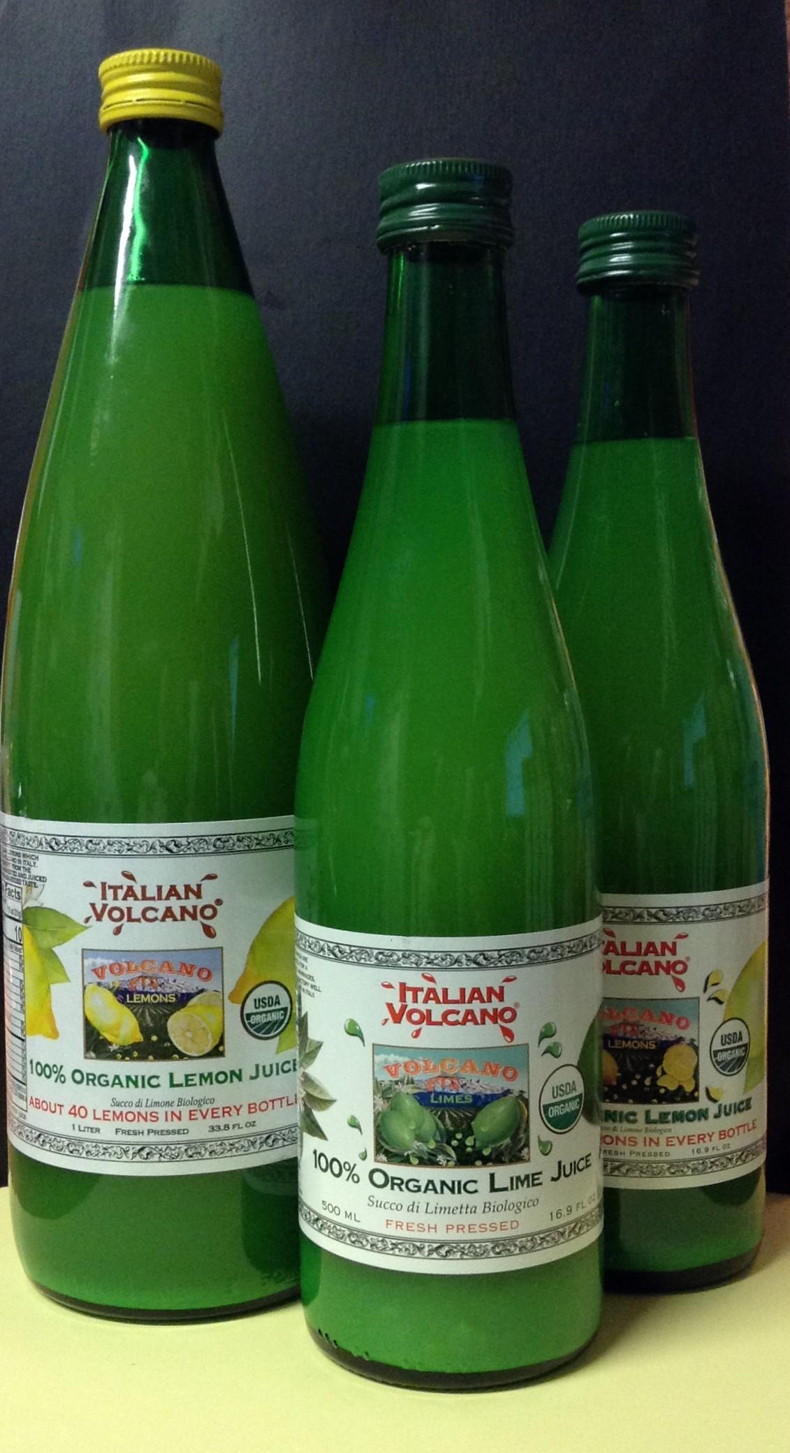ITALIAN VOLCANO Organic Lemon/Lime Juice